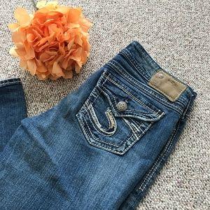 Silver Suki Surplus High Rise Boot Cut Jeans